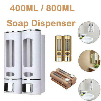 400ML Wall Mounted Liquid Soap Dispenser Bathroom Shampoo Gel Pump Shower Bottle