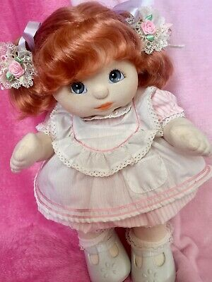 DOLL IS NOT INCLUDED! Original MC Pink Pinafore Outfit COMPLETE & FREE Barrettes