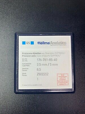 HELLMA ANALYTICS - Type: 2,50mm - 5,00mm -QS - Cuvettes -