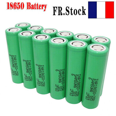 18650 Batterie 2500mAh 3.7V 25R Li-ion High Drain Rechargeable Flat Top FR FAST