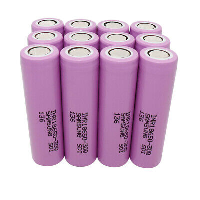 1-12pcs 18650 3000mAh Batterie 3.7V High Drain 30Q Li-ion  Rechargeable Flat Top