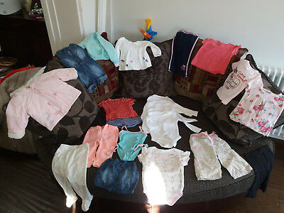 Girls clothes bundle Age 6-9 MONTHS Used but in good used condition.