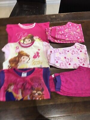 3 Pairs Of Girls Frozen Pyjamas Age 3-4 years Old Joblot
