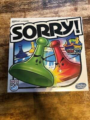 SORRY Fire And Ice Family Board Game Kids Fun Parker Brothers Hasbro 2013 Sealed