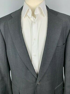 Paul Stuart Stuart II Wool Suit Jacket sz 44 Semi Long Gray