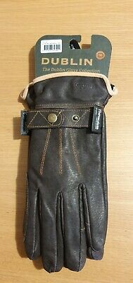 New Dublin Leather Thinsulate Winter Adult Horse Riding Gloves - Brown
