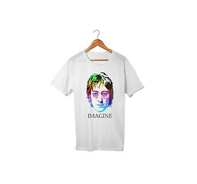 John Lennon Imagine Unisex T shirt Men's Ladies Printed Tee shirt Top Seller UK