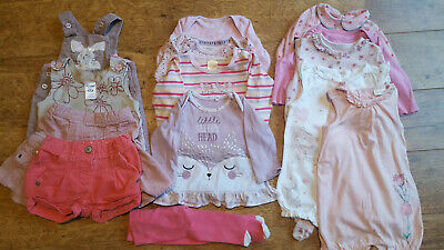 Bundle of pretty baby girls' clothes 3-6 months-Pumpkin Patch, Mothercare, Next