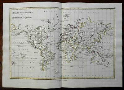 World on Mercator's Projection Africa Mts. of Moon 1820 Thomson