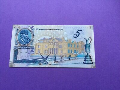 Old tom morris £5note uncirculated