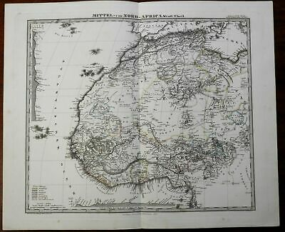 North Africa West Coast European Colonialism 1875 Stulpnagel Stieler map