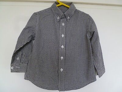 Boys The Childrens Place Checked Long Sleeved Shirt Age 24 months