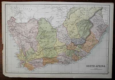 South Africa Cape Colony Orange Free State 1870 engraved map