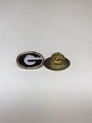 DELUXE UGA University of Georgia LAPEL PIN Hat Suit Badge Butterfly Clasp NCAA