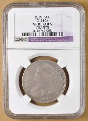 1819 Capped Bust Half Dollar O-110a NGC VF Details