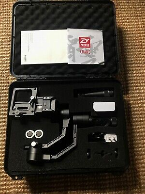 Zhiyun Crane V2 3-Axis Handheld Gimbal Stabilizer -Black W/ Carry Case Very Good