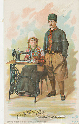 D1484  Victorian Trade Card  Singer Sewing Machine Netherlands