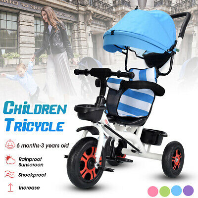Reserve Baby Walker Kids Toddler Tricycle Bike Trike Ride-On Toys + Cover Blue