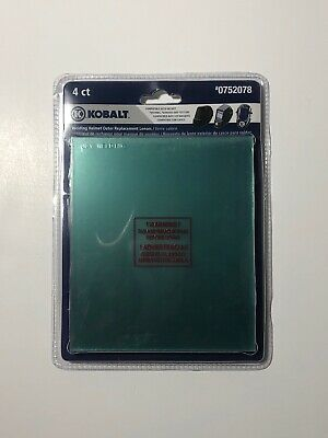 Kobalt Welding Helmet Clear Outer Replacement Lenses 4pk FREE SHIP SNA #0752078