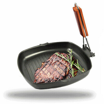 20/24cm Pan BBQ Picnic Frying Camping Steak Foldable Skillet Griddle Non-stick