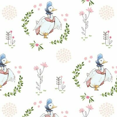 Jemima Puddle Duck-a4 Adhesive Backed Fabric-Pink-Peter Rabbit-Easter