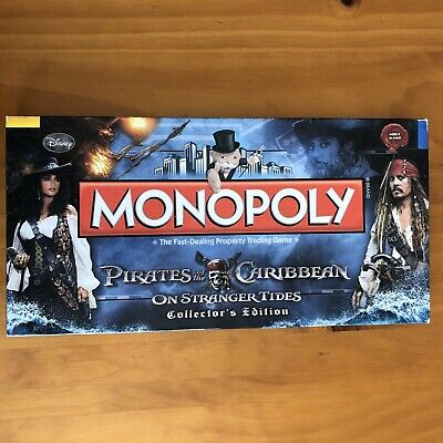 Pirates Of The Caribbean On Stranger Tides Monopoly Board Game - 99% Complete