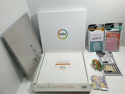 Becky Project Life Scrapbook  Job Lot Made In Usa  - Lots Of Materials