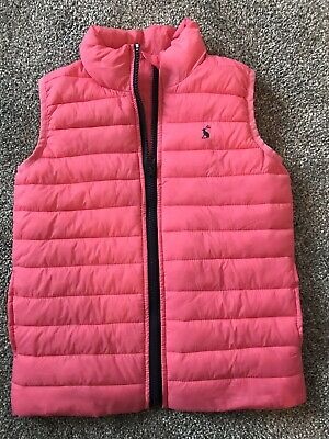 Girls Pink Gilet From Joules Age 6 (age 5-6)