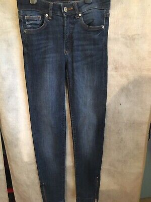 New H&M Blue Stretchy Skinny Jeans Size 25 6