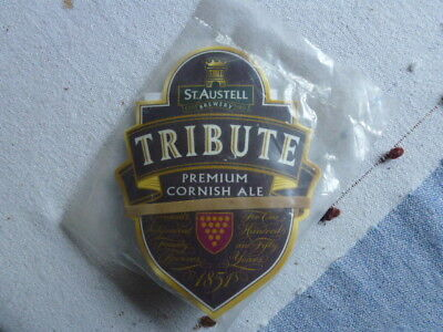 "ST AUSTELL /"" TRIBUTE  /"" CURVED PUMP CLIP  FRONT WITH CLIP TV3 UNUSED"