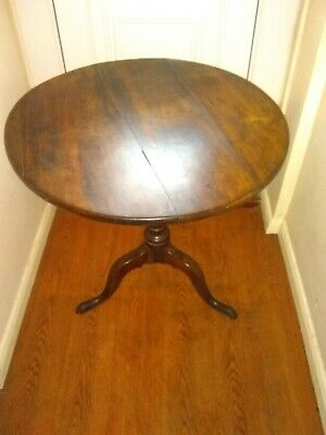 Antique Georgian 18th Century Mahogany Tilt Top Tripod Table