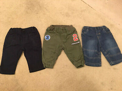 Baby Boys Jeans / Trousers Age 3-6 Months Bundle