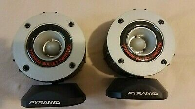 "New Pyramid TW28 3.75/"" 300W Super Car Audio Horn Bullet Aluminum Tweeters 2"