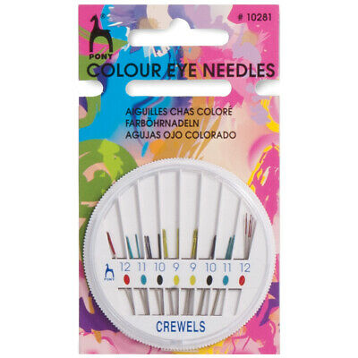 Pony Gold Eye Hand Sewing Needles - Crewels