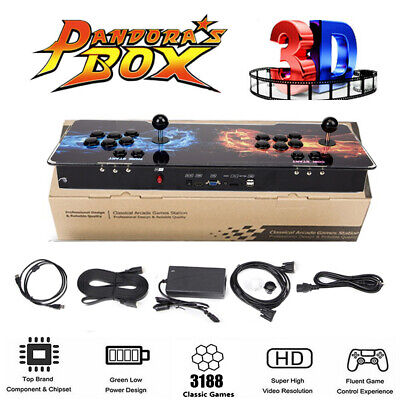 Upgraded 3D Pandora Box 12s Games 3188 in 1 Retro Arcade Console Double Player #