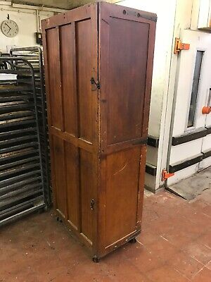 Antique Wooden Cabinet Bakery Cupboard Prover Equipment With Drawers
