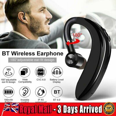 Bluetooth 5.0 Stereo Noise Headphones Sport Cancelling Headset Business Ear Hook