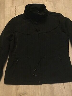 Autograph Weekend Zipped Smart Black Jacket Size 16 Marks Spencers
