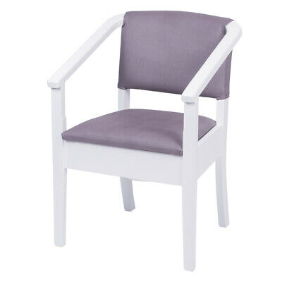Luxury Wooden Commode Armchair - White