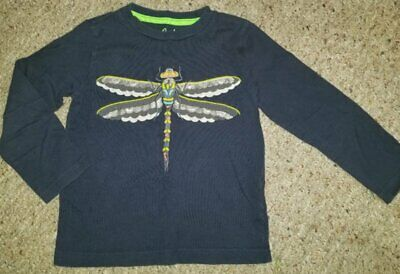 MINI BODEN Blue Dragonfly Long Sleeved Top Boys Size 4-5