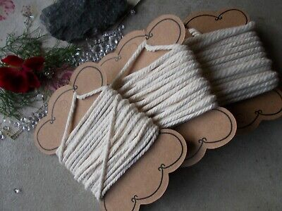 5 Mtrs Ivory Cotton Jewellery Cord,2mm, 3mm or 4mm Craft String,macrame,bracelet