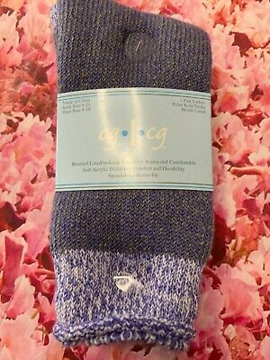 Super Thick Acrylic Long Sock Super Fuzzy 9-11 Purple