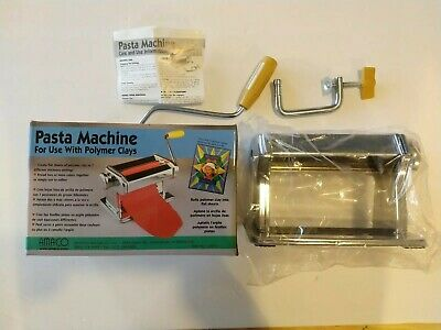 AMACO Artist's Pasta Machine 12381S for Polymer Clay, Soft Metal Sheets, New