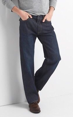 NWT Gap Jeans in Relaxed Fit, Dark Resin, 33x34