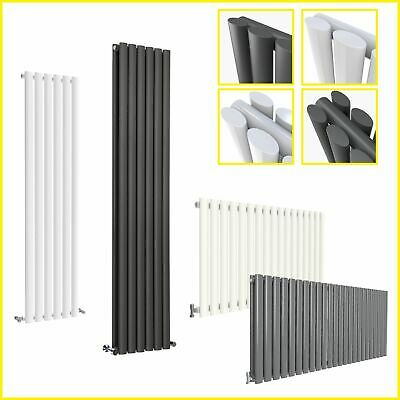 Vertical Designer Radiator Oval Column Tall Central Heating Radiators&Valves