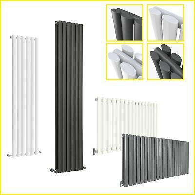 Vertical Tall Upright (H)1600/1800mm Oval Column Double Single Designer Radiator