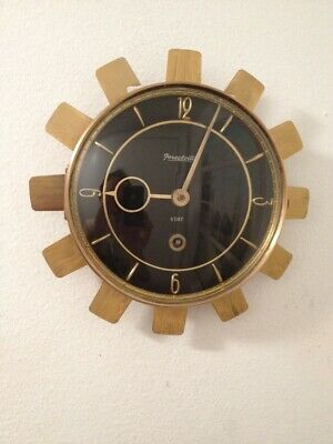 BEAUTIFUL FORESTVILLE Mid-Century 8-day Wall Clock  (Junghans-Hermle-Mauthe Era)