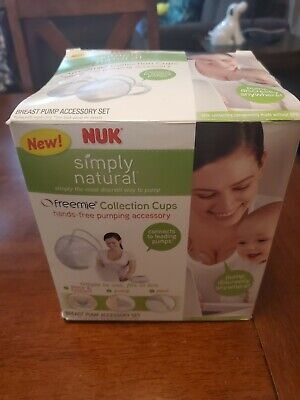 NUK Breast Feeding Pumping Accessory Hands-free Freemie Collection Cups