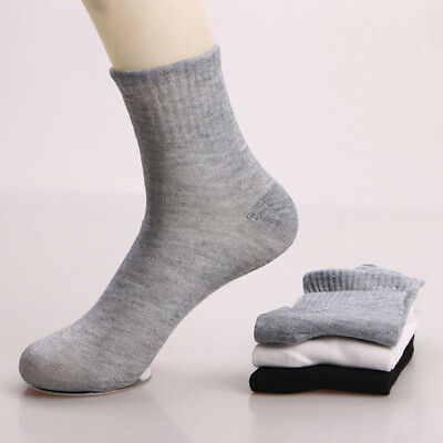 10 Pairs Men Sports Sock Crew Short Ankle Low Casual Cotton Breathable Sock Lot