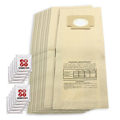 10 x Dust Bags for HOOVER Turbopower 1 2 3 Junior Turbomaster Turbolite + Fresh